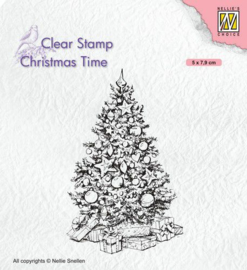 Nellies Choice Clearstempel - Christmas time - Kerstboom CT035 50x79mm