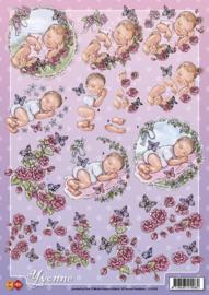 3D Knipvel - Yvonne Creations - Baby`s CD10135