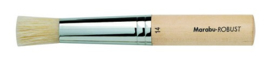 Robust witte ronde borstel - Raille 14  Marabu