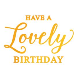 Lovely Birthday Hotfoil Stamp