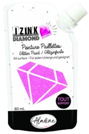 IZINK Diamond glitterverf/pasta 24 karaat- 80 ml, roze