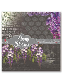 "iCraft - Ebony Blooms - Paperpad 12""x12"""