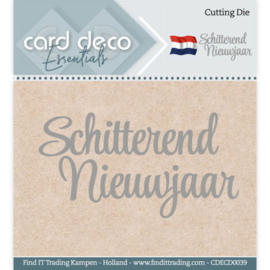 Card Deco Essentials CDECD0039 - Cutting Dies - Schitterend Nieuwjaar