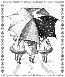 Crafty Individuals CI-399 Winter Wonderland Unmounted Rubber Stamps