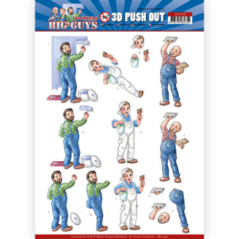Yvonne Creations - 3D Push Out - Big Guys - Workers - Handyman sb10448