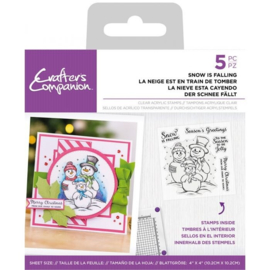 Crafter's Companion Clearstamp Snowman - Snow is Falling