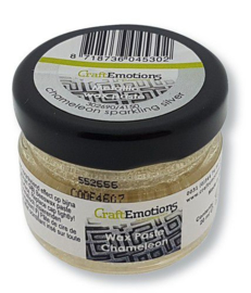 CraftEmotions Wax Paste chameleon - sprankelend zilver 20 ml
