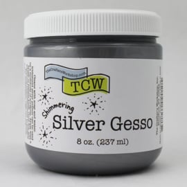 The crafters workshop  Silver Gesso 8 oz.