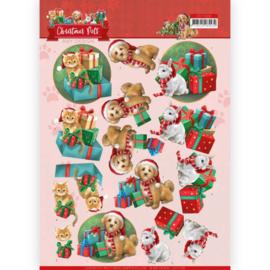 Amy Design - 3D Knipvel - Christmas Pets - Presents CD11526