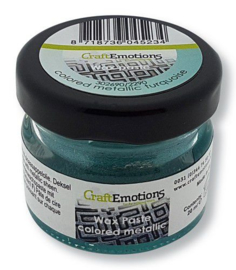 CraftEmotions Wax Paste metallic colored - turquoise 20 ml