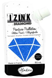 IZINK Diamond glitterverf/pasta - 80 ml, blauw