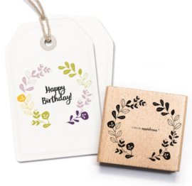 Cats on Appletrees - 2369 - Stempel - Bloemenkrans 2