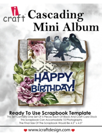 icraft - Cascading Mini Album - Ready to Use Scrapbook Template.