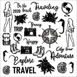 Chipboard Travel the World - 13Arts
