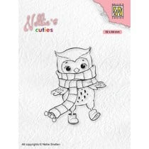 """Nellie's Christmas cuties """"Owl with winter scarf"""" NCCS013"""