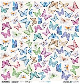 Designpapier Butterflies - 30.5x30.5 - per vel