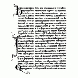 Crafty Individuals CI-406 - 'Medieval Manuscript' Unmounted Rubber Stamps