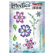PaperArtsy Eclectica - Mounted Rubber Stamp Set -  EKC15