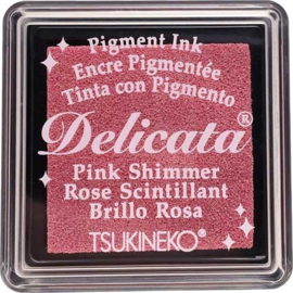 Delicata Pink shimmer Small inkpad DE-SML-333