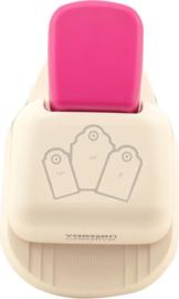 Vaessen Creative 3-in-1 Tag Pons Label Geschulpte Rand • klein | middel | groot