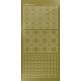Hobbydots sticker - Mirror - Gold