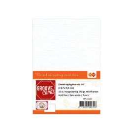 Oplegkaartjes Groove Cards A6 Wit