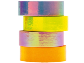 Rico Design - Paper Poetry Tape Set Iridescent Pastel 4 stuks 1,5cm x 5 meter