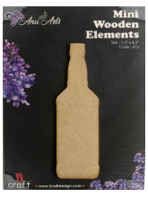 Icraft Mini wooden elements 012 (fles)