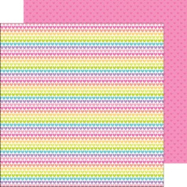 5641: rainbow love double-sided cardstock