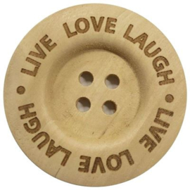 Knoop Live Love Laugh 40mm - 2 stuks
