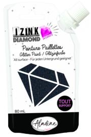 IZINK Diamond glitterverf/pasta 24 karaat- 80 ml, zwart
