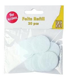 Nellie snellen SIAP006 spare felts round for IAP006 (20 pcs) diam. 3cm