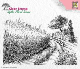 "Nellie Snellen -IFS005 Idyllic floral scenes ""Cornfield & country road"""