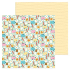 5945: waffley cute double-sided cardstock