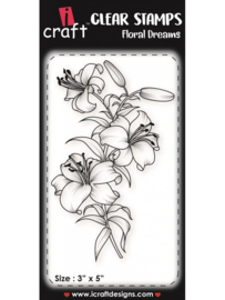iCraft - Clear Stempel - Floral Dreams