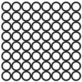 TCW 4x4 TCW2038 TinyRings Bits 4x4 Stencil