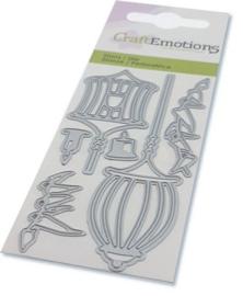 CraftEmotions Die - elfen - lantaarns Card 5x10cm