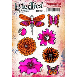 PaperArtsy Eclectica - Mounted Rubber Stamp Set - Tracy Scott 21 – ETS21