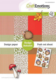 CraftEmotions Design Hedgy Autumn 12 vel + push out vel - A5 Carla Creaties A5