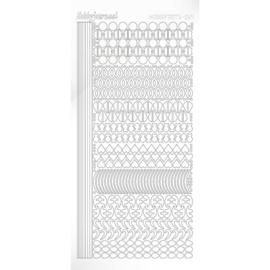 Hobbydots sticker - Adhesive - White -