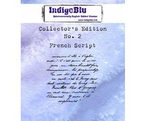 IndigoBlu Collectors Edition 2 Rubber Stamp - French Script (IND0330)