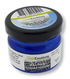 CraftEmotions Wax Paste metallic colored - blauw 20 ml