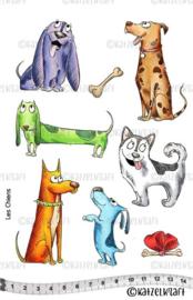Katzelkraft -  Dogs - Rubber stamps -  KTZ161