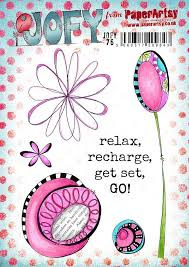 PaperArtsy Eclectica - Mounted Rubber Stamp Set -  Jofy76