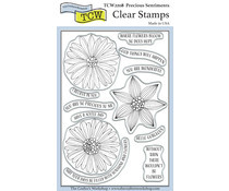 The Crafter's Workshop Precious Sentiments 4x6 Inch Clear Stamp (TCW2208)