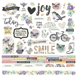 Simple Stories Bliss Combo Cardstock stickers 10013