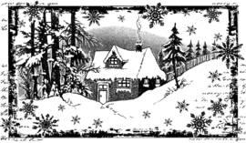 Crafty Individuals CI-463 Little Cottage in the Snow Unmounted Rubber Stamps
