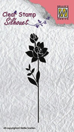 Nellie Snellen -   SIL017 Silhouette Clear Stamps flower-11 (85x 22 mm)