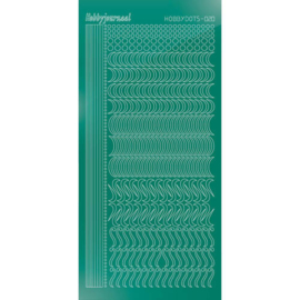 Hobbydots sticker - Mirror Christmas Green