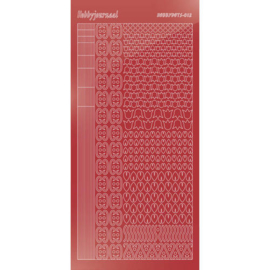 Hobbydots sticker - Mirror - Christmas Red
